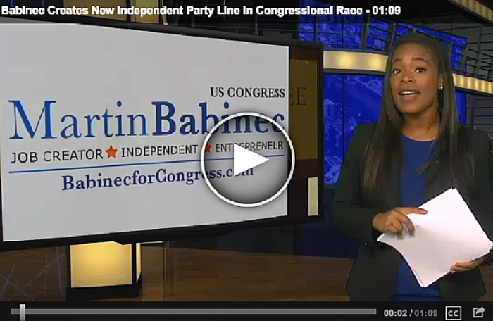 Martin Babinec Creates New Independent Party line in Congressional District