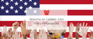 Upstate Jobs Party Join Us Graphic